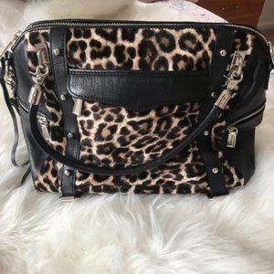 Rebecca Minkoff Black and Leopard Large Tote Bag